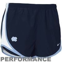 Nike North Carolina Tar Heels :UNC: Ladies Navy Blue Dri-FIT Tempo Performance Training Shorts
