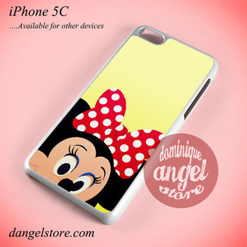 Minnie Mouse Face Phone case for iPhone 5C and another iPhone devices