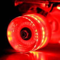 Red Sunset Flare LED Skateboard Wheel Set (x4) - DriftingThru.com