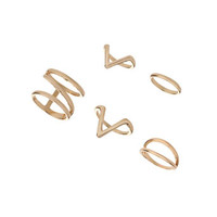 Geo Cutout Ring Pack - Back In Stock - New In
