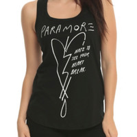Paramore Hate To See Your Heart Break Girls Tank Top