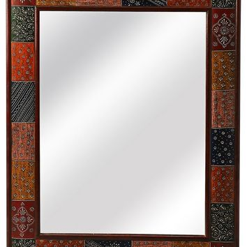 Butler Meadow Rectangular Hand Painted Wall Mirror