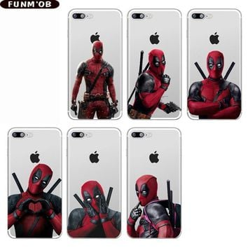 Deadpool Dead pool Taco Super Cool Marvel  Super Hero Soft Silicone TPU Phone Case Cover For iphone 8 8Plus 7 7Plus 6 6S 6Plus X Xs Max Xr Coque AT_70_6