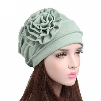 female Winter Hat cotton beanie women for autumn Women Cancer Chemo Hat Beanie Scarf Turban Head Wrap Cap Gorros#YL