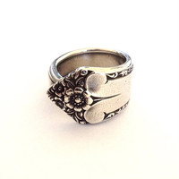 Vintage Silver Spoon Ring - Circa 1950