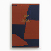 Gold Foil Any-Year Daily Planner - Navy Red