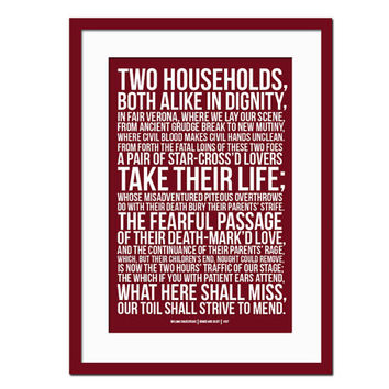 Romeo & Juliet by William Shakespeare - Art Print - Typography Quote Poster -  Literature Art Print - Literary Poster - Actor Actress Gift