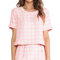 Pink Checked Top in Pink