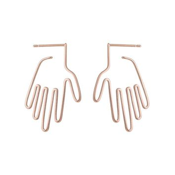 SMJEL 2017 New Hamsa Hand Stud Earrings Femme Palm Statement Earring For Women Vintage Chic Pendientes Handmade Jewelry brinco