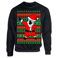 Dabbing santa ugly christmas sweater women sweatshirt