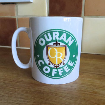 Ouran High School Host Club Crest Starbucks Inspired Coffee Mug 10oz