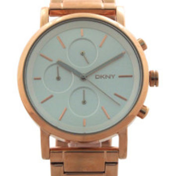 NY2275 Chronograph Soho Rose Gold Ion Plated Stainless Steel Bracelet Watch by DKNY (Women)