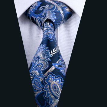 LD-613 New Arrival Brand Men`s Tie 100% Silk Classic Paisley Neckwear Necktie Gravata For Formal Wedding Groom Party Business