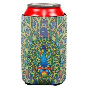 LMFCY8 Mandala Trippy Stained Glass Peacock All Over Can Cooler
