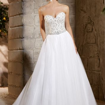 Mori Lee 2775 Beaded A-Line Tulle Wedding Dress