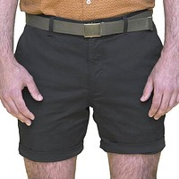 Charcoal Grey Cotton Stretch Twill Shorts Sizes 34 & 36 Available