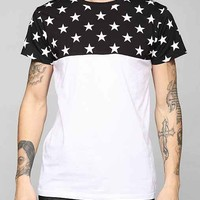 Colorblock Stars Tee- Black & White