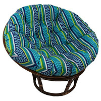 Gretta Boho Aztec Pattern Papasan Outdoor/Indoor Chair with Cushion