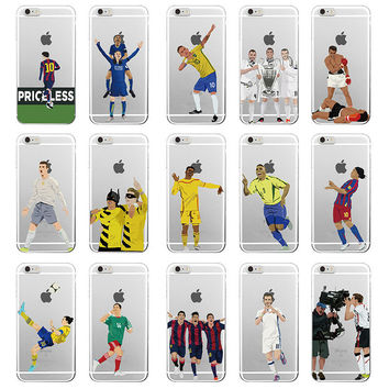 Famous Karim Benzema Cristiano Ronaldo Soccer Sports Stars Soft Clear Phone Case For iphone7 SE 5 5s 6sPlus Transparent Back Cover -0315