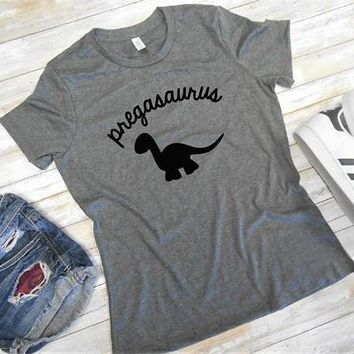 Pregasaurus - Funny Pregnancy/Maternity - Pregnancy Announcement T-shirt For Women