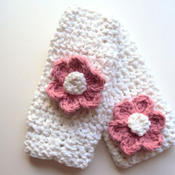 White Crochet Baby Leg Warmers/ Two by AngiesLittleBoutique