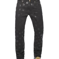Versace - Medusa all-over denim trousers