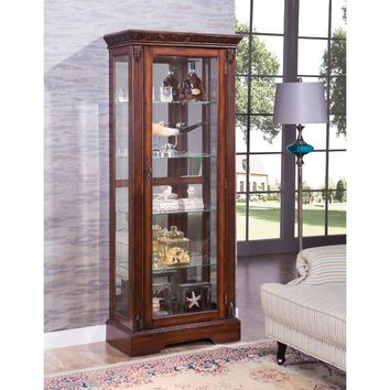 Astonishing Wooden Curio Cabinet, Cherry Brown-ACME