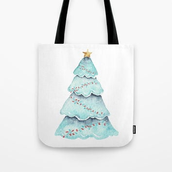 christmas tree Tote Bag by Sylvia Cook Photography