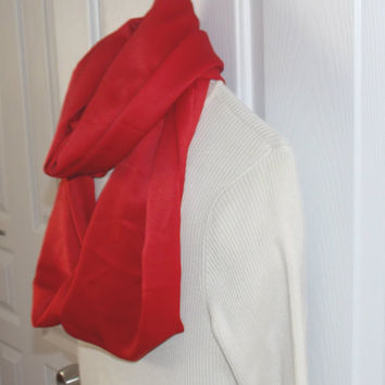 Infinity scarf, circle scarf, cowl scarf  for ladies in a Valentine Red