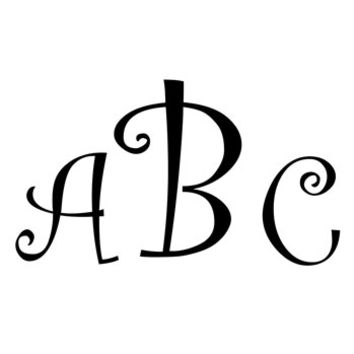 Monogram Decal with Curlz Font - Multiple Colors & Sizes