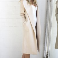 NEW YORK'S CALLING COAT IN BEIGE