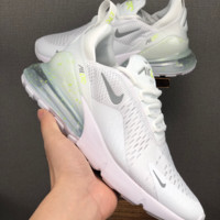 HCXX 19June 1187  Nike Air Max 270 Mesh breathable Running Shoes  white grey