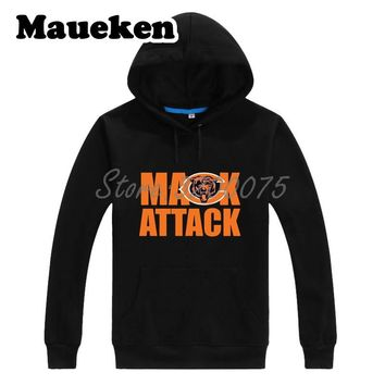 Men Hoodies Khalil Mack 52 Chicago Mack Attack  Sweatshirts Hooded Thick Lace-up for  fans gift Autumn Winter W18091207 1