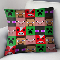 Game Minecraft Custom pillow case size for 18 x 18 inch, 16 x 16 inch, 20 x 30 inch, 20 x 26 inch, 20 x 36 inch two side
