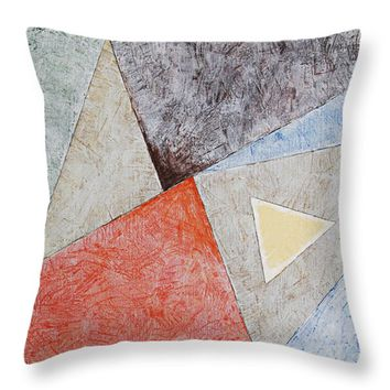 """Suprematist Composition No 4 With A Triangle Throw Pillow for Sale by Ben Gertsberg - 16"""" x 16"""""""