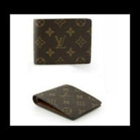 Men's canvas Fashion Brand Wallet with gift box