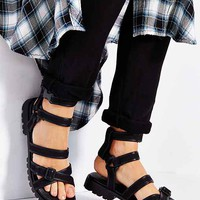 Shakuhachi Strappy Buckle Sandal- Black