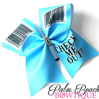 Check Me Out Cheer Bow Soccer Bow or Softball Bow