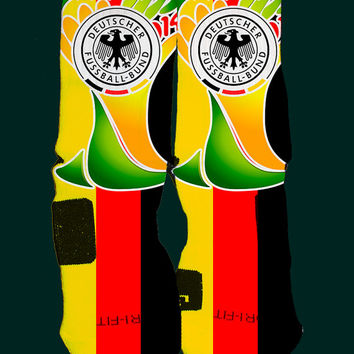 Germany World Cup Inspired Custom Nike Elite Socks