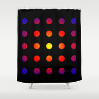 twentyfive dots o2 Shower Curtain by Steffi ~ findsFUNDSTUECKE