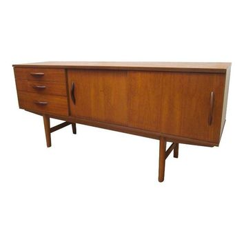 Pre-owned Danish Modern Low Profile Teak Credenza