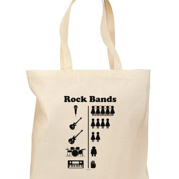 Rock Band Pictograph Grocery Tote Bag