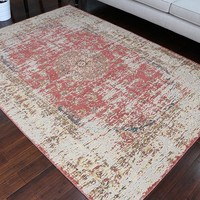 8708 Red Rustic Oriental Area Rugs