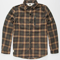 Lira Everest Mens Flannel Jacket Brown  In Sizes