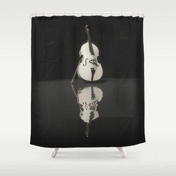 Contrabass Shower Curtain by Cinema4design