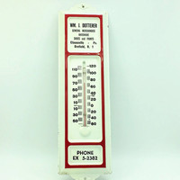 Vintage Rustic Metal Advertising Thermometer- Hardware, Paint Advertising