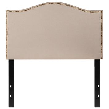 Lexington Upholstered Twin Size Headboard with Decorative Nail Trim