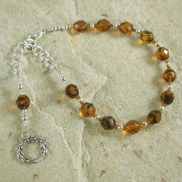 Apollo Prayer Bead Bracelet: Greek God of Music and the Arts, Health and Healing