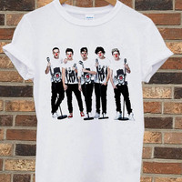 One direction Red Nose Day - Fast shipping from Usa T shirt Unisex for Mens and Woman white color