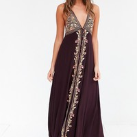 Ecote Anya Embroidered Gauze Maxi Dress